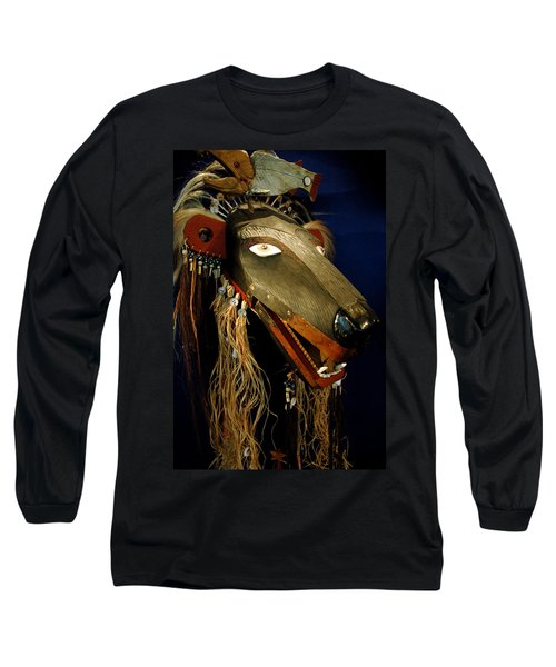 Indian Animal Mask Long Sleeve T-Shirt by LeeAnn McLaneGoetz McLaneGoetzStudioLLCcom