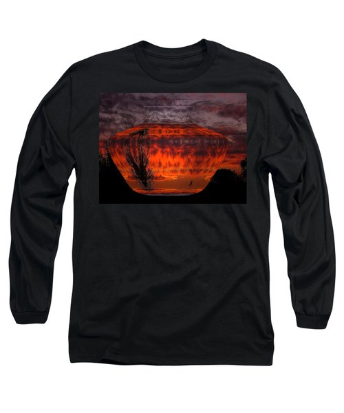 Long Sleeve T-Shirt featuring the photograph Indian Summer Sunrise by Joyce Dickens