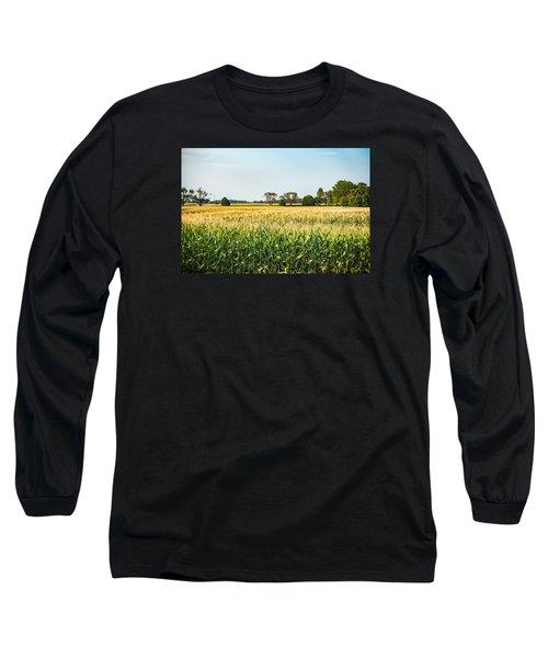 Indiana Corn Field Long Sleeve T-Shirt