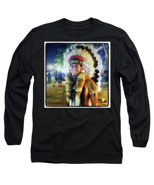 Long Sleeve T-Shirt featuring the photograph Indians Invade Thailand. Cowboys Too by Mr Photojimsf