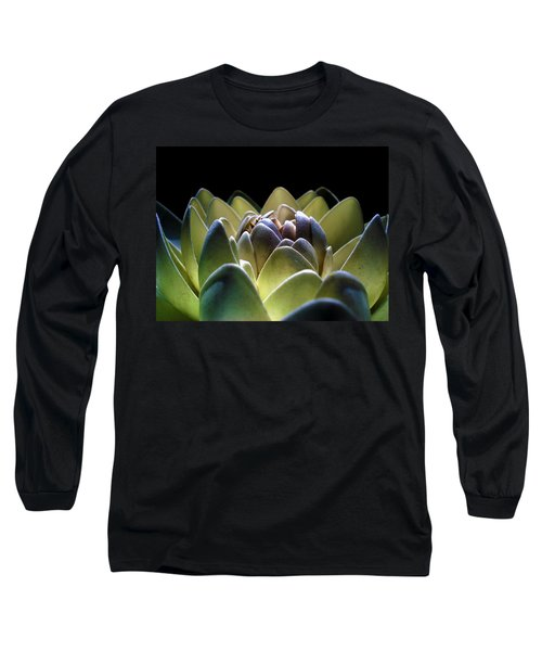 Indonesian White Lotus Long Sleeve T-Shirt