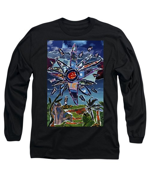 Industrial Flower Long Sleeve T-Shirt