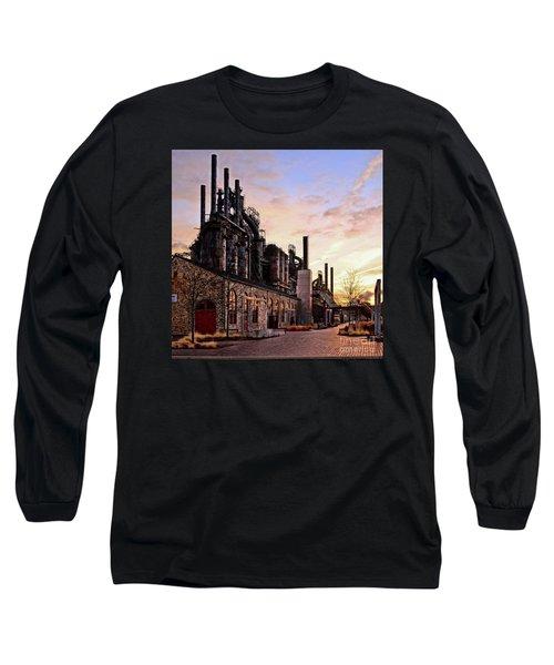 Long Sleeve T-Shirt featuring the photograph Industrial Landmark by DJ Florek