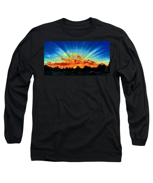 Infinite Rays From An Otherworldly Sunset Long Sleeve T-Shirt