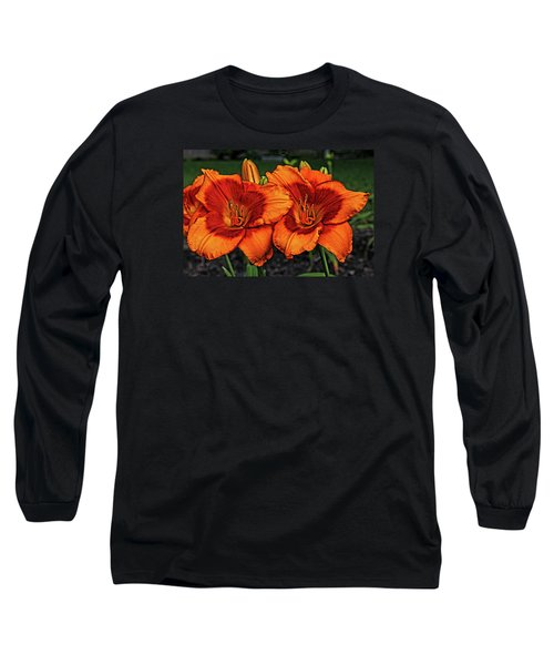 Long Sleeve T-Shirt featuring the photograph Innocent Fire by Judy Vincent