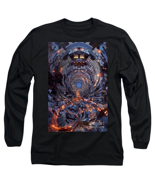 Inside A Space Station To The Galaxy Far Long Sleeve T-Shirt