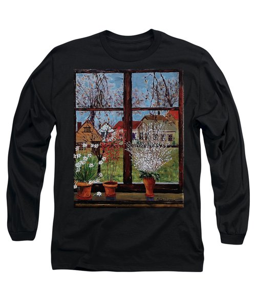 Inside Looking Out Long Sleeve T-Shirt by Mike Caitham