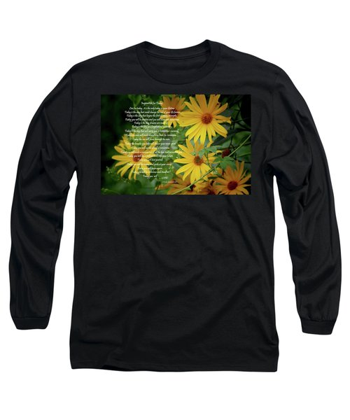 Inspiration For Today Floral Long Sleeve T-Shirt