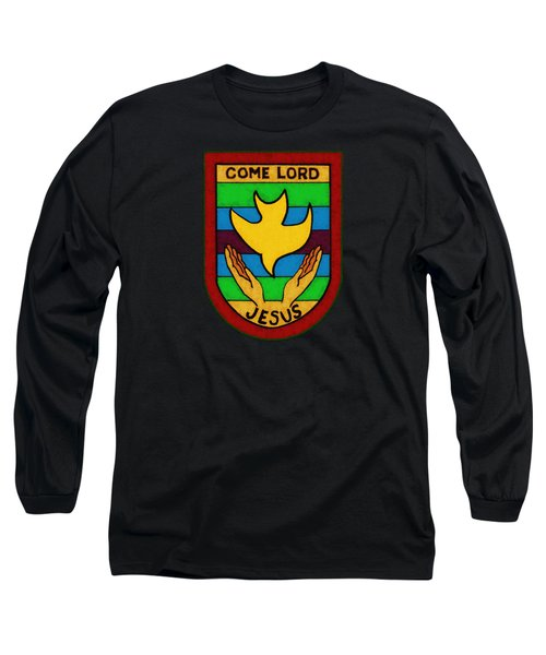 Long Sleeve T-Shirt featuring the drawing Inspirational - Come Lord Jesus by Glenn McCarthy Art and Photography