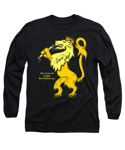 Inspirational - The Lion Of Judah Long Sleeve T-Shirt by Glenn McCarthy Art and Photography