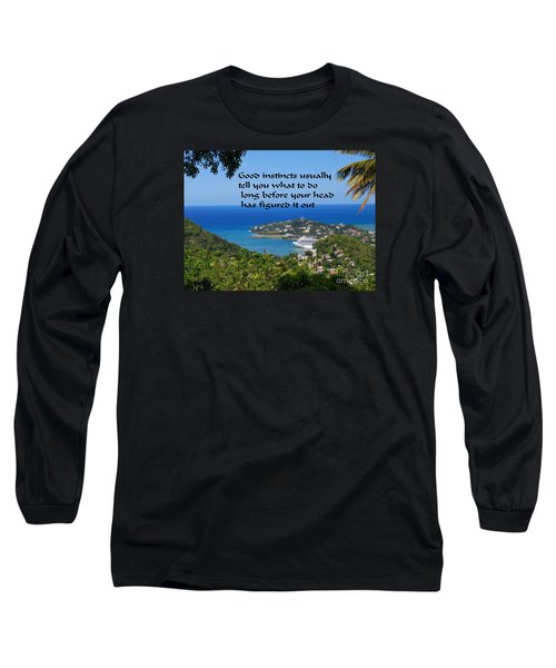 Long Sleeve T-Shirt featuring the photograph Instincts by Gary Wonning