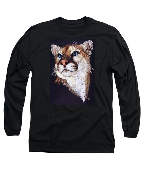 Long Sleeve T-Shirt featuring the drawing Intense by Barbara Keith