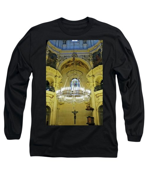 Interior Evening View Of St. Nicholas Church In Prague Long Sleeve T-Shirt