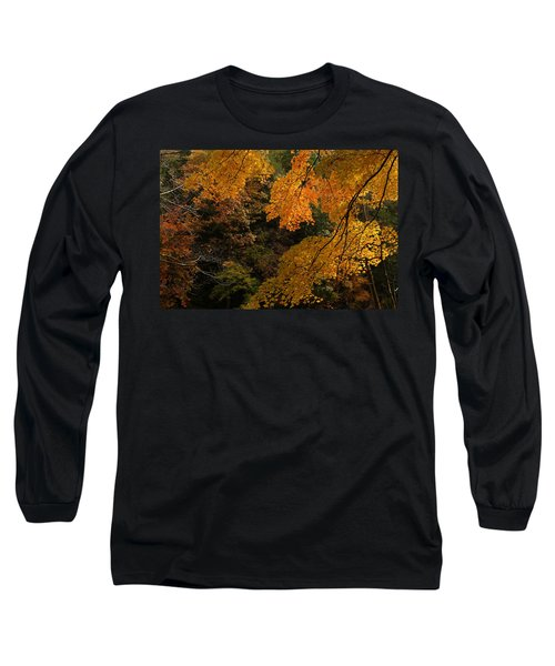 Into The Fall Long Sleeve T-Shirt by Michael McGowan