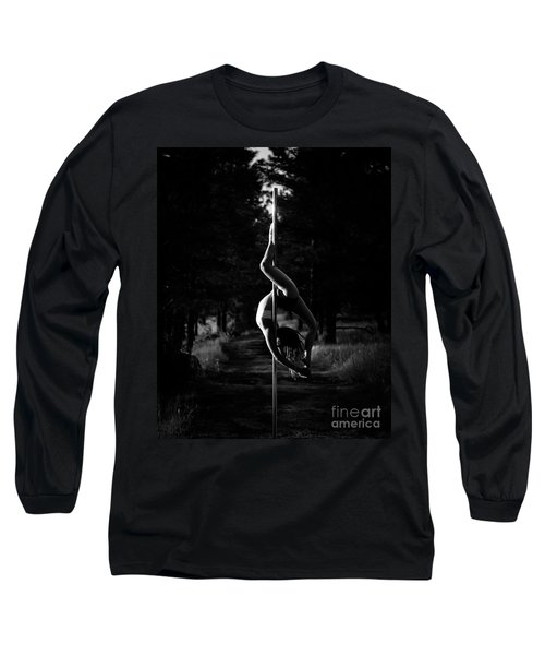 Inverted Pole Dance In Forest Long Sleeve T-Shirt