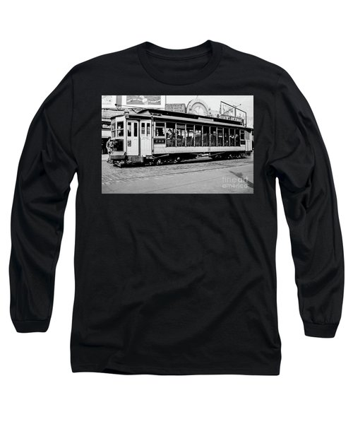 Long Sleeve T-Shirt featuring the photograph Inwood Crosstown Trolley  by Cole Thompson