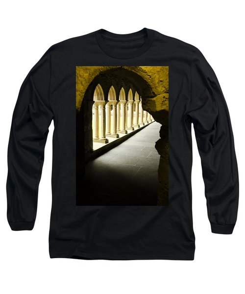 Long Sleeve T-Shirt featuring the photograph Iona Abbey Scotdland by Sally Ross