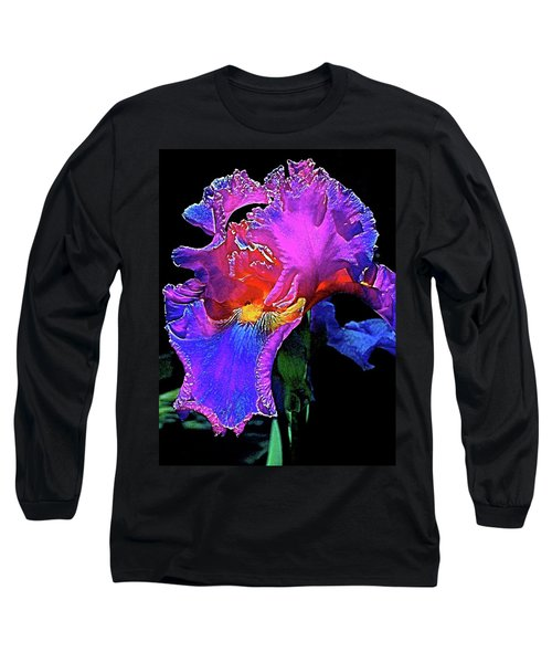 Iris 3 Long Sleeve T-Shirt by Pamela Cooper