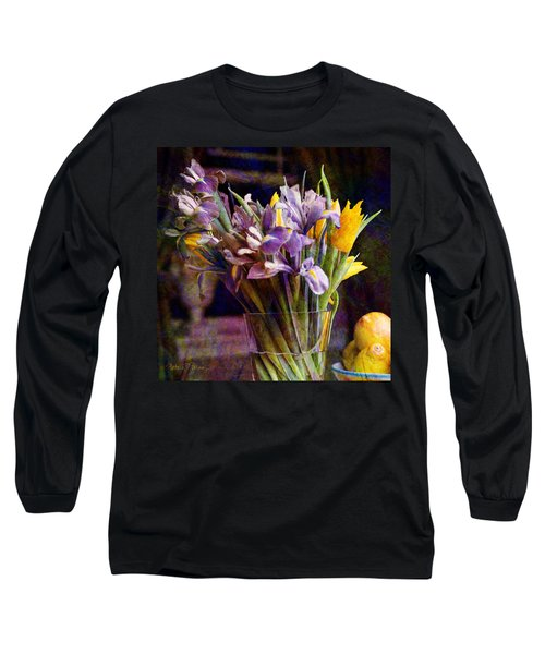 Irises In A Glass Long Sleeve T-Shirt
