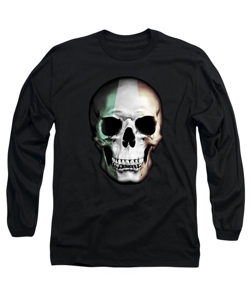 Long Sleeve T-Shirt featuring the digital art Irish Skull by Nicklas Gustafsson