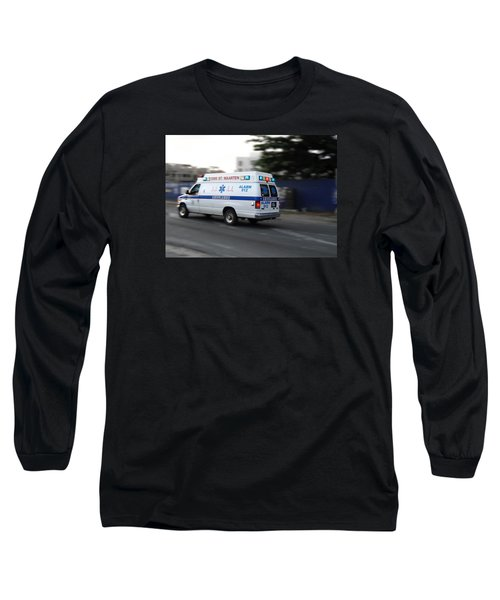 Island Ambulance Long Sleeve T-Shirt by RKAB Works