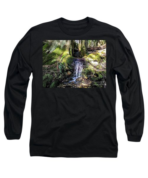 Long Sleeve T-Shirt featuring the photograph Island Stream by William Wyckoff