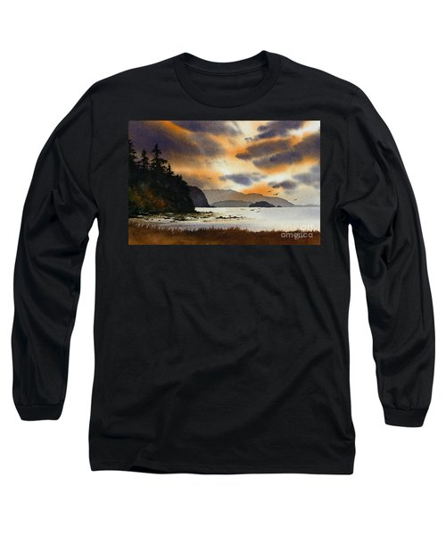 Long Sleeve T-Shirt featuring the painting Islands Autumn Sky by James Williamson