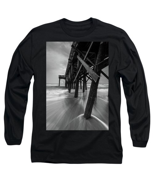 Isle Of Palms Pier Water In Motion Long Sleeve T-Shirt