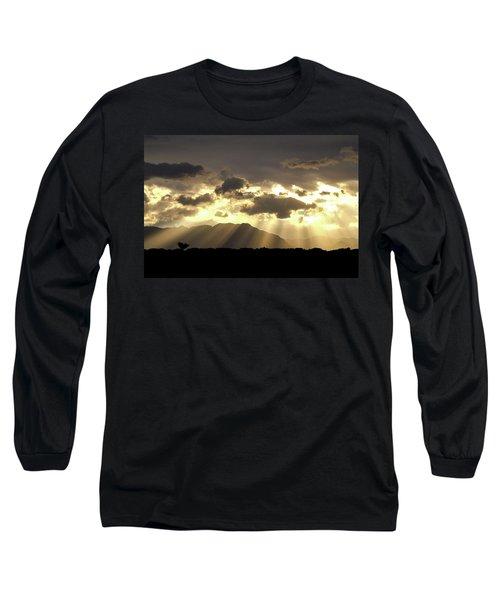 Long Sleeve T-Shirt featuring the photograph Israeli Desert Sunrise At Timna by Yoel Koskas