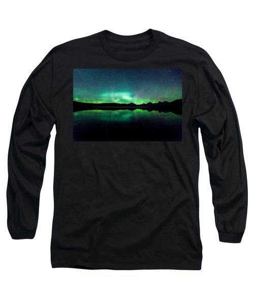 Long Sleeve T-Shirt featuring the photograph Iss Aurora by Aaron Aldrich