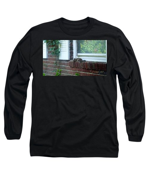 Long Sleeve T-Shirt featuring the photograph It Is Cool Here In The Shade by Denise Fulmer