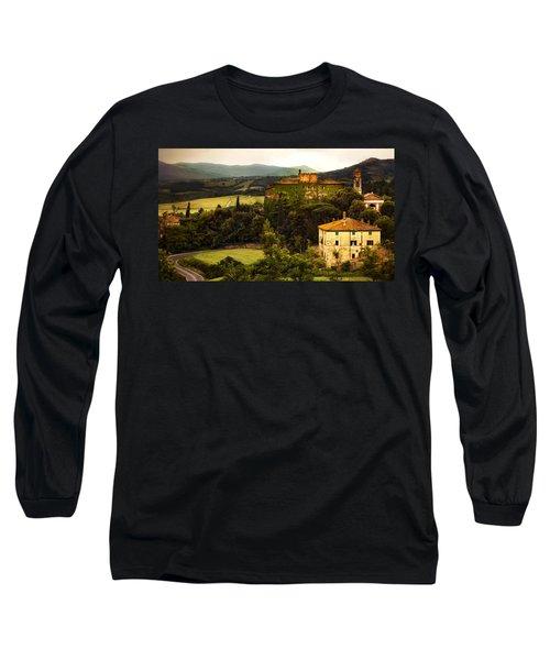 Italian Castle And Landscape Long Sleeve T-Shirt