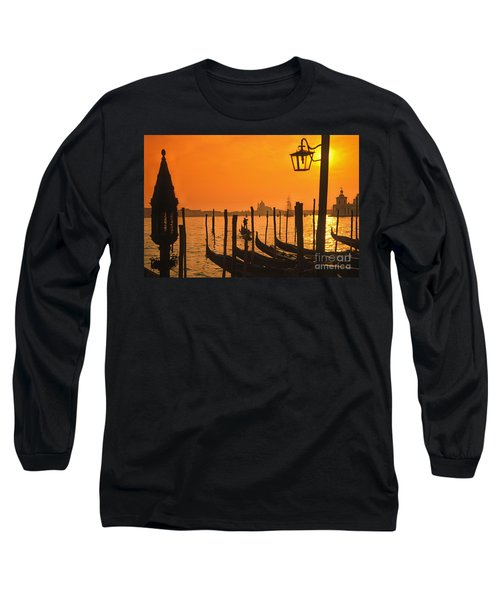 Long Sleeve T-Shirt featuring the photograph Italy Venice Riva Degli Schiavoni , Canale Grande Riva Degli Sch by Juergen Held