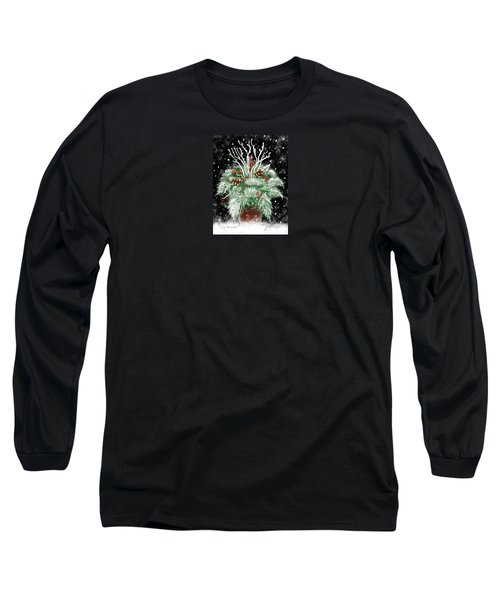 It's Snowing Long Sleeve T-Shirt by Jean Pacheco Ravinski