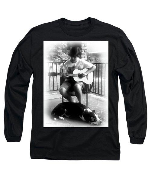 Jackson Bw Long Sleeve T-Shirt by Patricia L Davidson