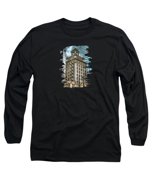 Jackson Tower Portland Oregon Long Sleeve T-Shirt by Thom Zehrfeld