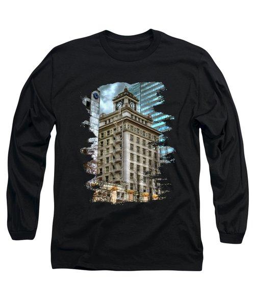 Jackson Tower Portland Oregon Long Sleeve T-Shirt