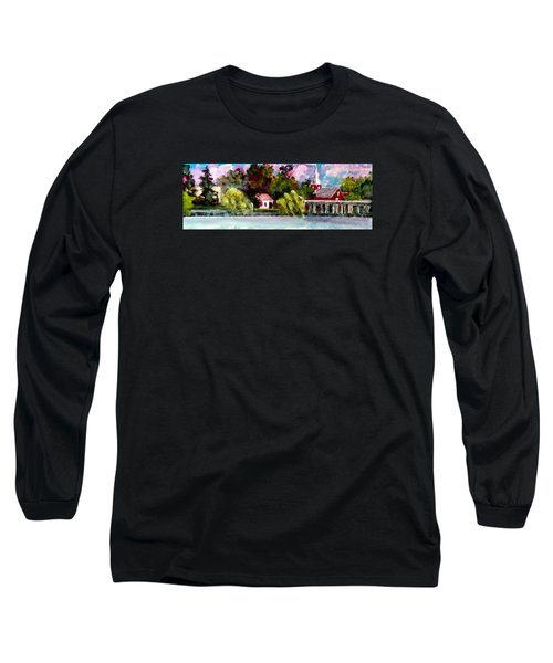 Long Sleeve T-Shirt featuring the painting Jacksonville Nc Waterfront by Jim Phillips
