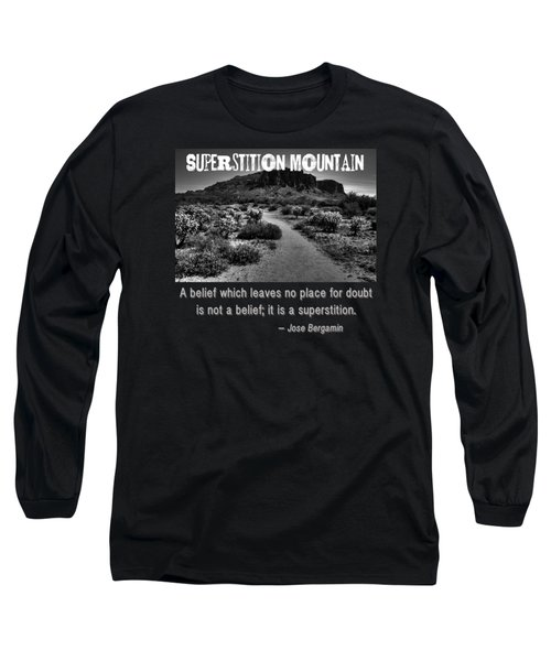 Jacobs Crosscut Trail In The Superstition Wilderness Long Sleeve T-Shirt