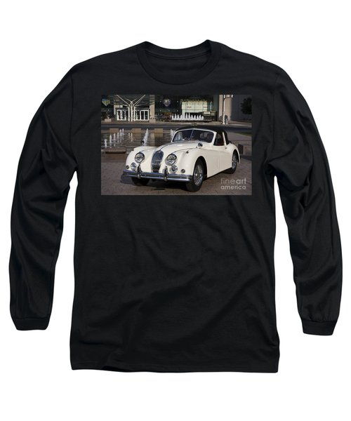 Jaguar Xk 140 Long Sleeve T-Shirt by Dennis Hedberg