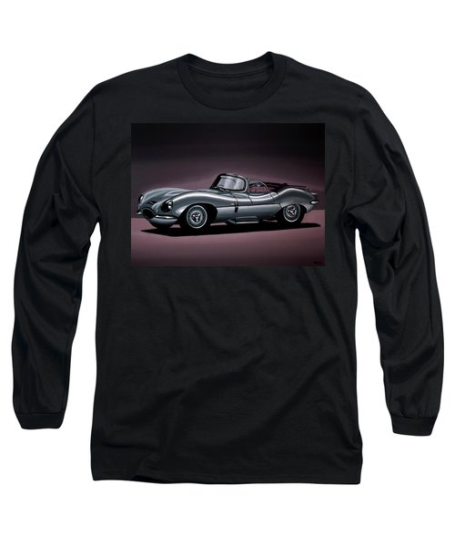 Jaguar Xkss 1957 Painting Long Sleeve T-Shirt