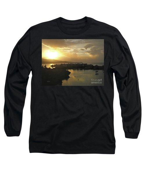 Jamaica Sunset Bay Long Sleeve T-Shirt