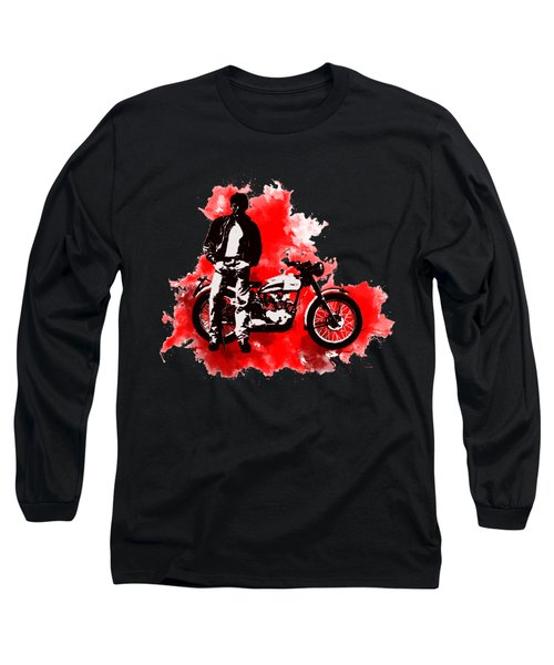 James Dean And Triumph Long Sleeve T-Shirt