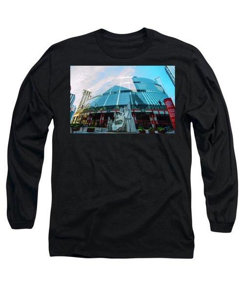 Long Sleeve T-Shirt featuring the photograph James R. Thompson Center Chicago by Deborah Smolinske