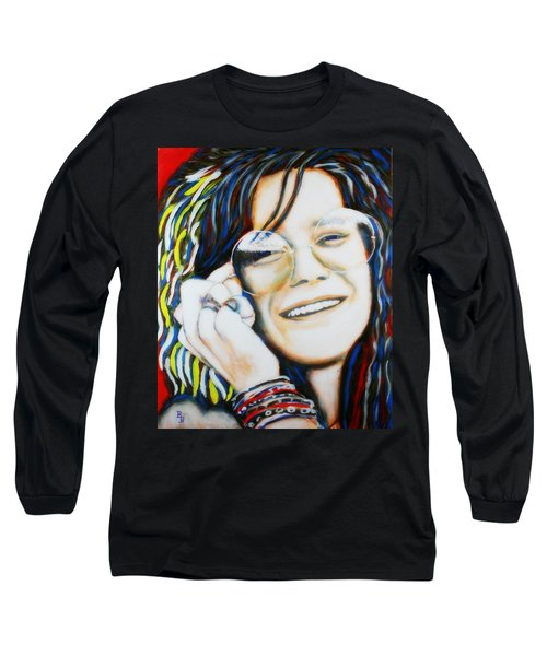 Janis Joplin Pop Art Portrait Long Sleeve T-Shirt