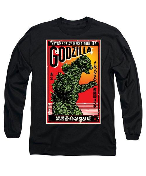 Japanese Godzilla  Long Sleeve T-Shirt