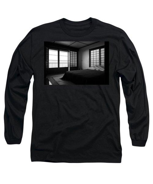 Japanese Style Room At Manago Hotel Long Sleeve T-Shirt by Lori Seaman