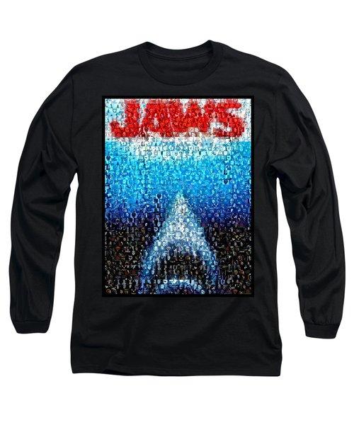 Jaws Horror Mosaic Long Sleeve T-Shirt
