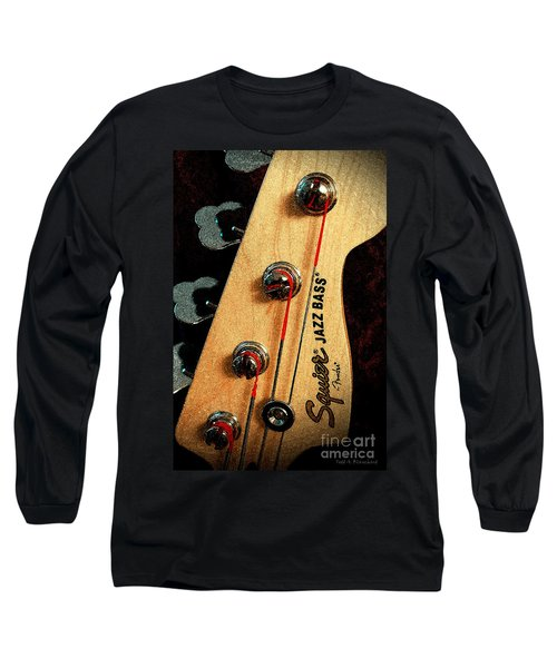 Jazz Bass Headstock Long Sleeve T-Shirt