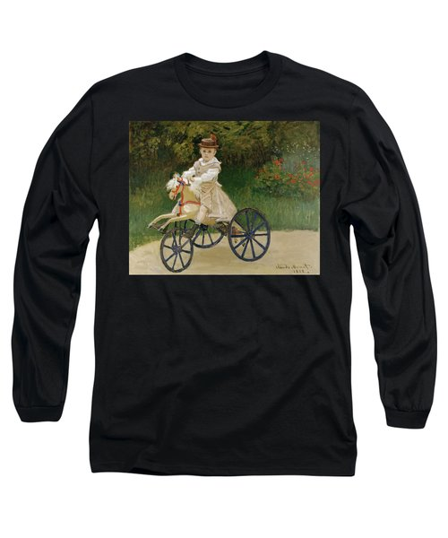 Long Sleeve T-Shirt featuring the painting Jean Monet On His Hobby Horse           by Claude Monet